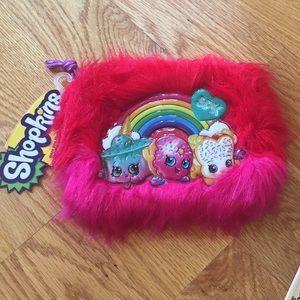 Fuzzy shopkins bag